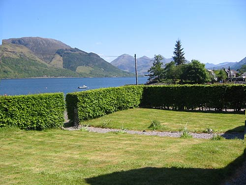 Garden with superb views of Skye